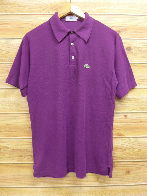 929a2f1f Old clothes polo shirt Lacoste LACOSTE logo purple purple medium size used  men short sleeves tops