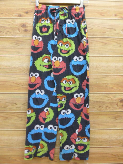 Old clothes lady's easy underwear Sesame Street black black used bottoms