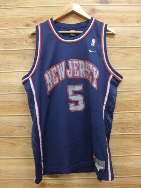 cheap for discount 44439 05fcd Old clothes tank top Nike NIKE NBA New Jersey Nets Jason Kidd dark blue  navy uniform XL size big size 2L LL big silhouette spacious men's summer ...
