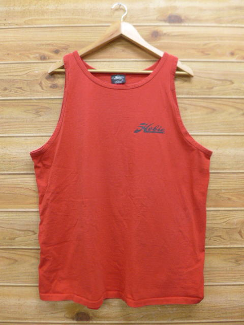 6dacc0b87ca4f8 RUSHOUT  Old clothes vintage tank top hobby HOBIE big size red red ...