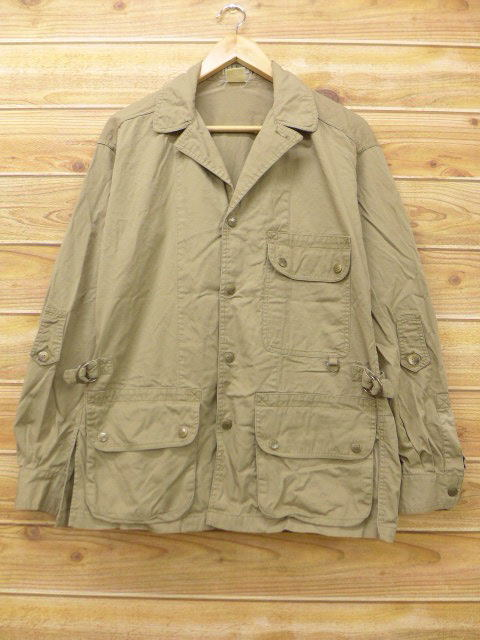 f2b62c60fbfef RUSHOUT: Old clothes hunting jacket L. L. Bean LLBEAN beige khaki ...