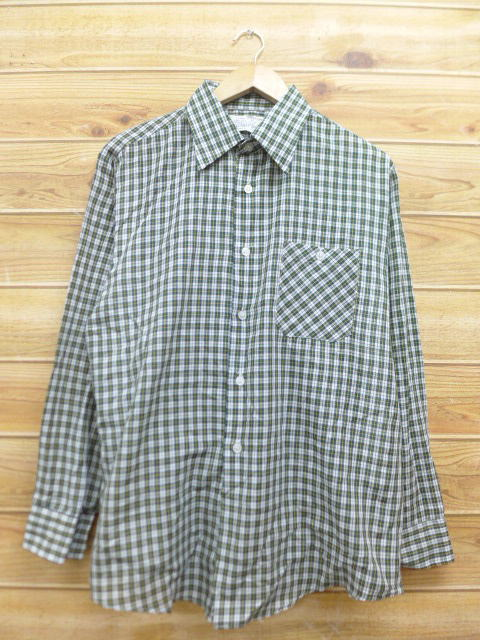 ae9d0b60b33 Old clothes long sleeves shirt Sears green green check XL size used men  tops ...