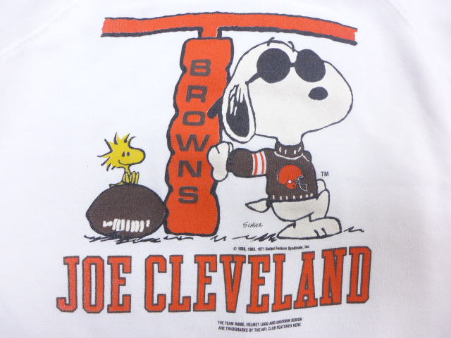 4bf1421c5 Old clothes sweat shirt NFL Cleeveland Browns peanut Snoopy SNOOPY white  white large size used men long sleeves sweat shirt trainer tops