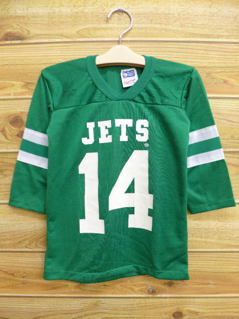 0cf91ef4c Old clothes kids children's clothes football T-shirt NFL New York Jets  green green American ...
