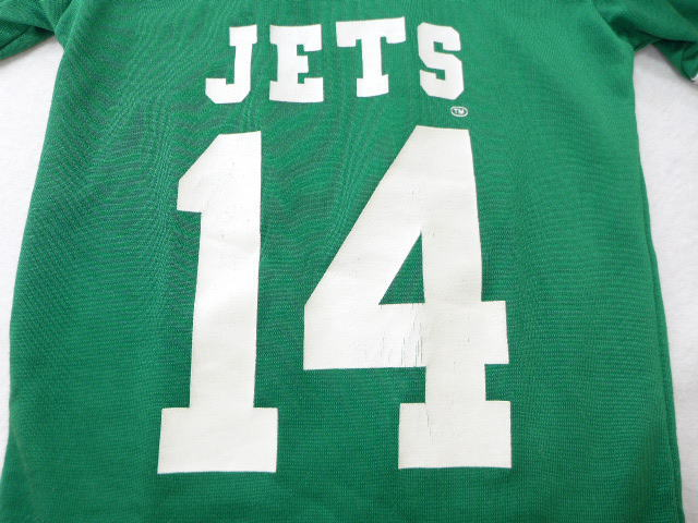 a3165343 Old clothes kids children's clothes football T-shirt NFL New York Jets  green green American football Super Bowl