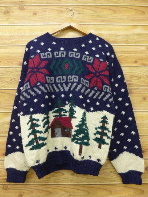 87b89a014f8b RUSHOUT  Person of old clothes Nordic events sweater snow pattern ...
