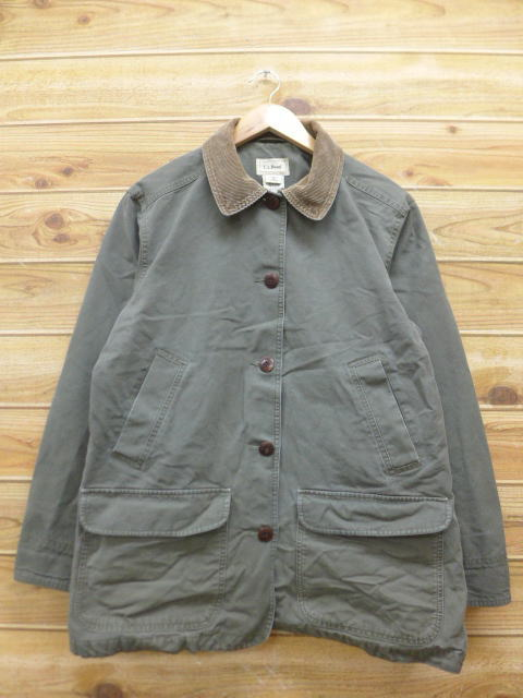 f94ea6f0b2b1d Old clothes Lady's hunting jacket L. L. Bean LLBEAN duck place green green  used outer jacket blouson ...
