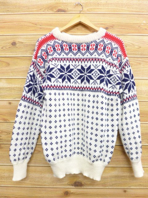 f2b77012f RUSHOUT  Old clothes Nordic events sweater snow pattern white white ...