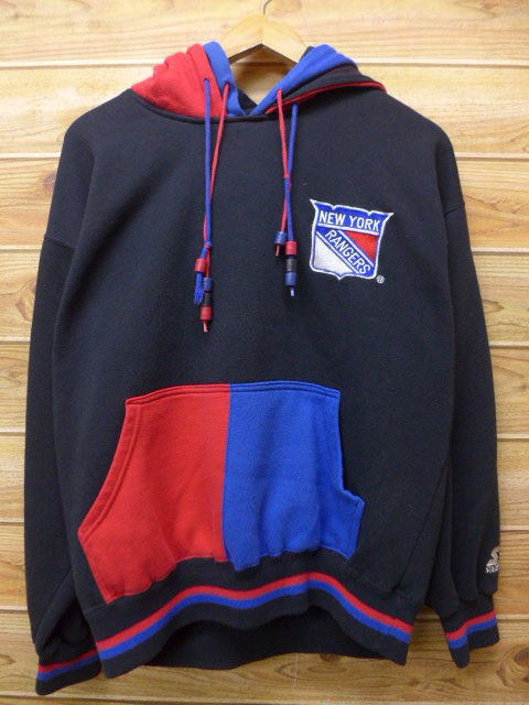 sports shoes 1ace7 74d45 Old clothes sweat shirt parka NHL New York Rangers starter STARTER black  other black multicolored ice hockey XL size used men long sleeves sweat  shirt ...