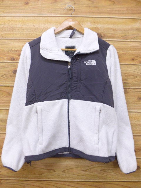4606b1c4e Old clothes Lady's fleece jacket North Face THE NORTH FACE logo white white  used outer jacket blouson