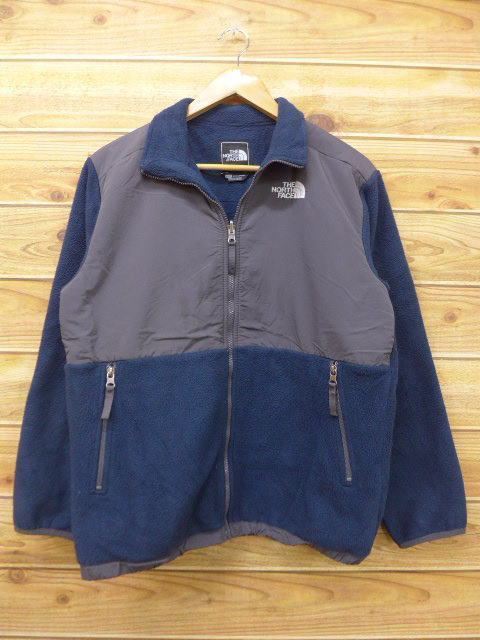 f70d92244 Old clothes Lady's fleece jacket North Face THE NORTH FACE logo dark blue  navy used outer jacket blouson
