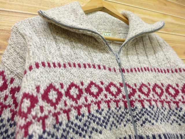 3ba2241cfd6f RUSHOUT: Old clothes Nordic events knit cardigan L. L. Bean LLBEAN ...