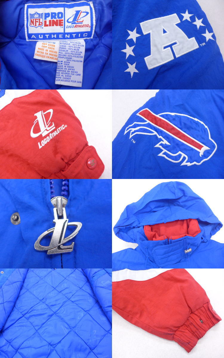 New RUSHOUT: Old clothes nylon jacket NFL Buffalo Bills blue others blue