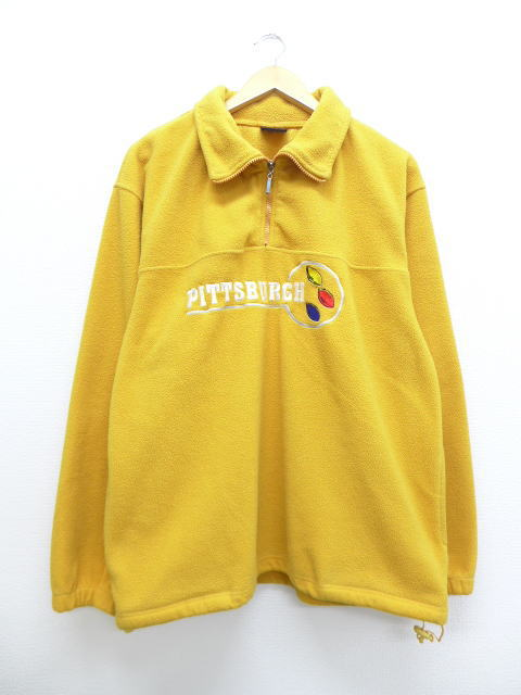 new style a9bc9 748bf Old clothes fleece jacket NFL Pittsburgh Steelers embroidery yellow yellow  American football Super Bowl XL size men | Autumn clothes winter clothing  ...