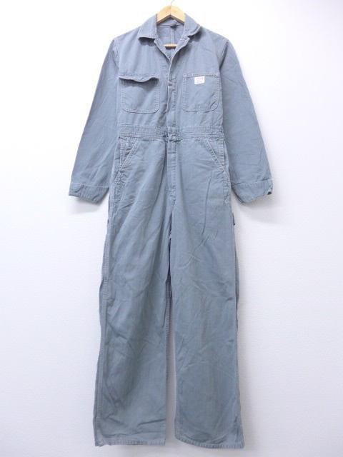 Old clothes vintage filler Big Mac BIG MAC ヘリンボーンタロングレー W30 used men  all-in-one bottoms