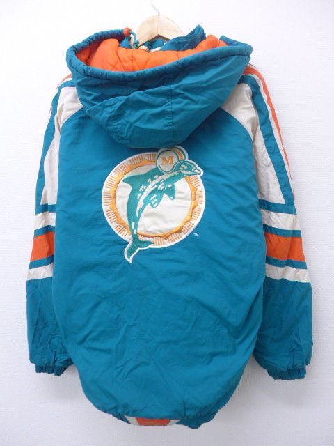 check out c781f c7e50 Old clothes nylon jacket starter STARTER NFL Miami Dolphins American  football Super Bowl long length embroidery bluish green XL size men |  Autumn ...