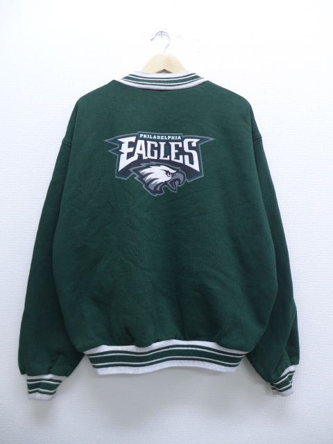 on sale 4cd54 6c890 Old clothes award jacket NFL Philadelphia Eagles big size green green  American football Super Bowl XL size used men outer jacket blouson