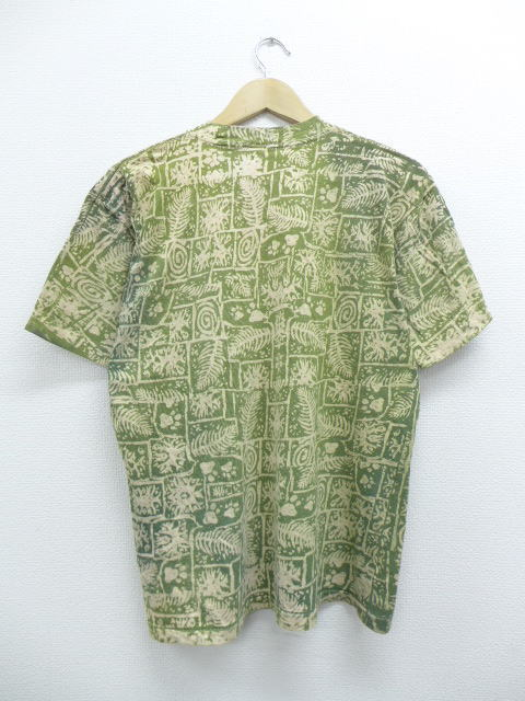 d6f7bbbb Old clothes vintage T-shirt Disney DISNEY Midori Lion King green large size  used men short sleeves