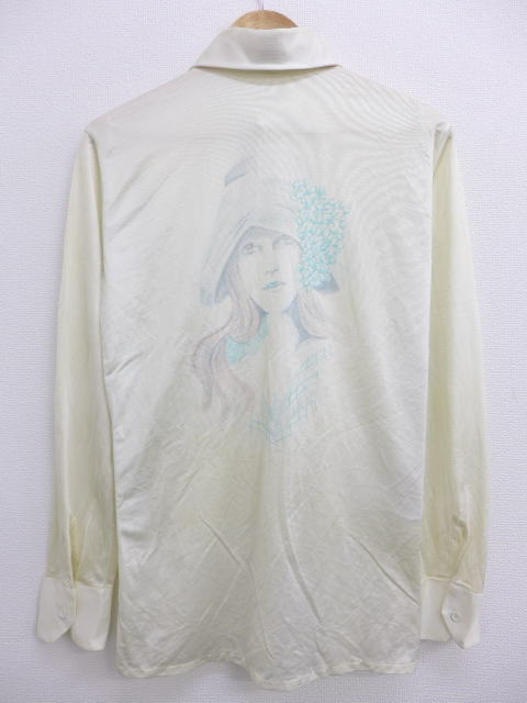 68f5185292e8a0 RUSHOUT: Old clothes long sleeves shirt horse woman dyeing print ...