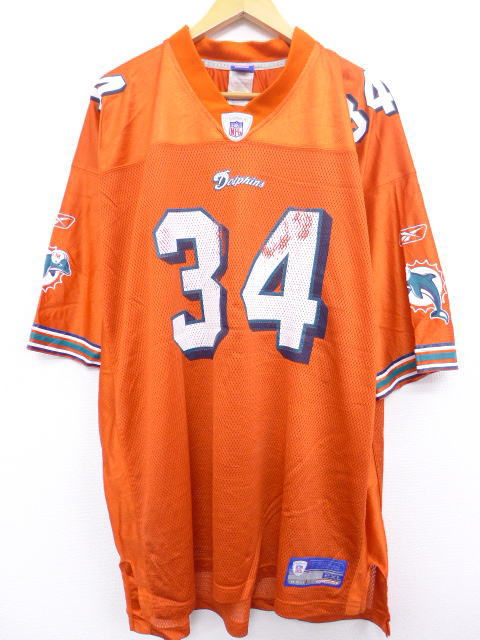 sale retailer 1a0bc d8168 Summer clothes | in old clothes short sleeves football T-shirt Reebok  REEBOK NFL Miami Dolphins Ricky Williams orange American football Super  Bowl XL ...