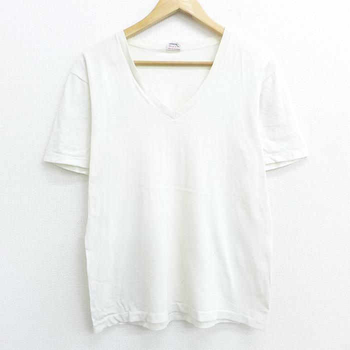 古着 半袖 ビンテージ Tシャツ 60年代 春の新作 60s 無地 コットン Vネック 白 20aug21 中古 メンズ ヴィンテージTシャツ 送料無料新品 ティシャツ 0OF カットソー 半袖Tシャツ 春夏 ティーシャツ 半袖ティーシャツ 夏服 夏物 ホワイト Mサイズ メンズTシャツ メンズファッション