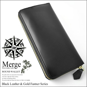 Merge (merge) horse leather round long wallet MG-1716
