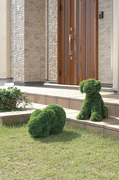 【送料無料】《アートグリーン》《人工観葉植物》光触媒 光の楽園 イヌ S