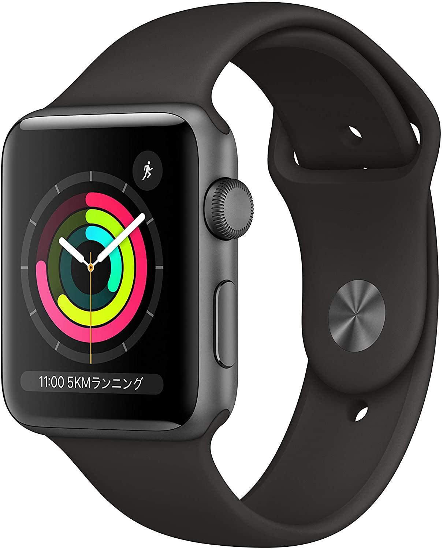おすすめ Apple?Watch Series?3 GPSモデル- 42mmスペースグレイアルミニウムケースとブラックスポーツバンド お買い得品 MTF32J A アップルウォッチ