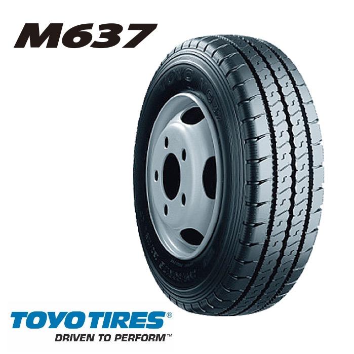 トーヨータイヤ M637 205/80R17.5 120/118L◆バン・小型トラック用サマータイヤ