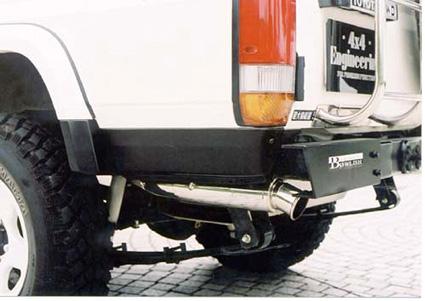 リアサイドガーニッシュ&オーバーフェンダーエンド(左右セット)ランドクルーザー70系(再販車)(GRJ76・HZJ76・77・KZJ78プラド/ワイドボディ車)