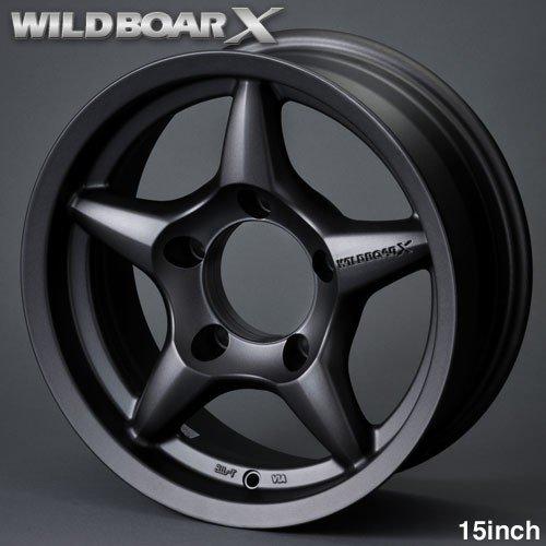 WILDBOAR X (6.0x15 -5)ガンブラック(艶消し)ワイルドボアX APIO ジムニー