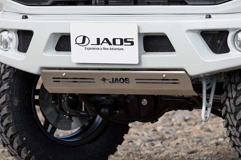 売店 JAOS 高い素材 フロントスポーツカウル用スキッドプレート JB64系NEW ジムニー
