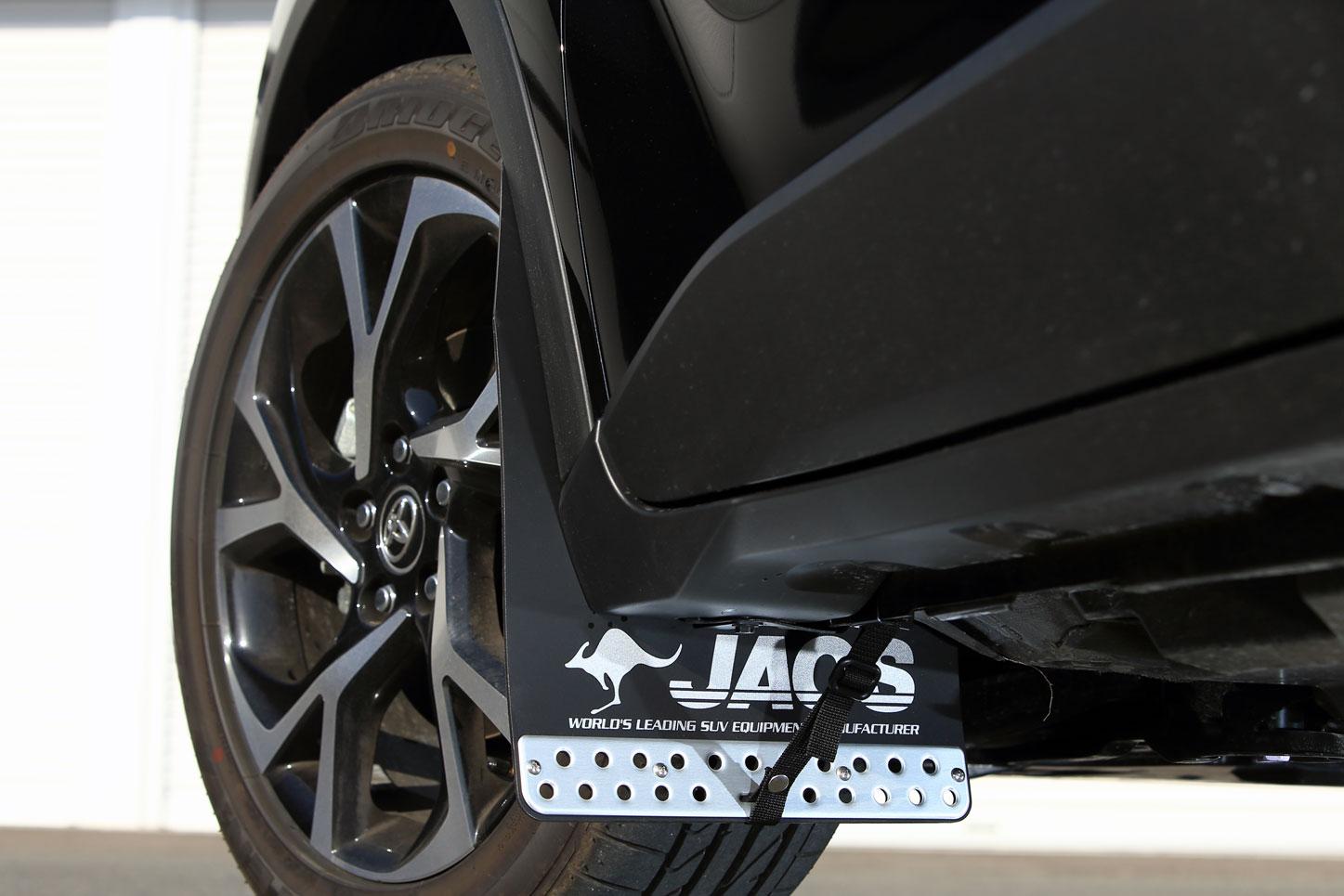 JAOS 気質アップ 大幅にプライスダウン マッドガード フロントセット C-HR ブラック