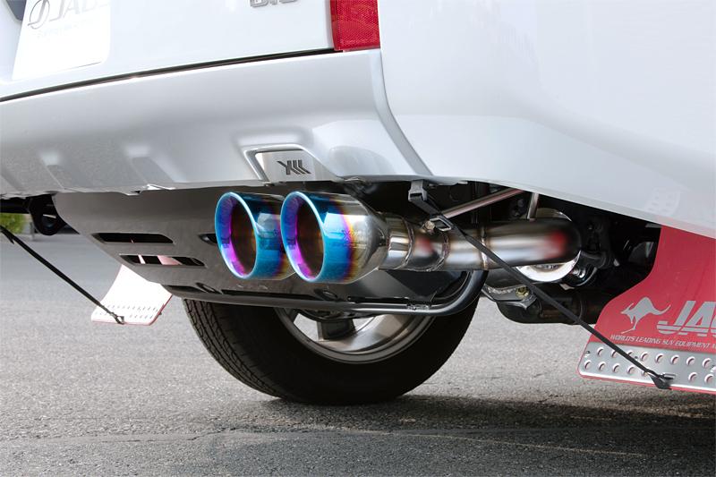 片側2本出しサークルテール 新作 人気 BATTLEZ マフラー ZS-2 TC 新型ディーゼル車用 デリカ D:5 チタンカラーテール 最新