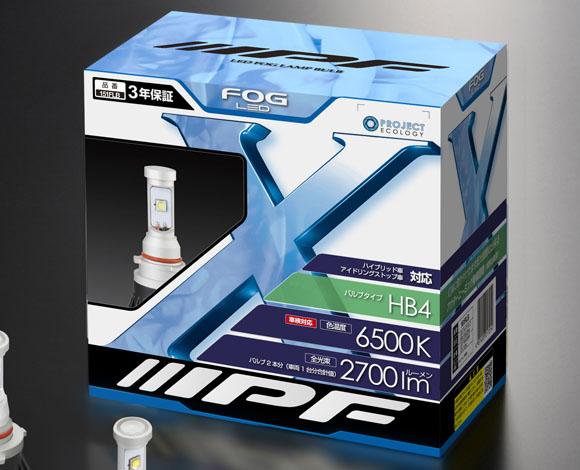 正規逆輸入品 LEDフォグランプバルブ IPF コンバージョンキット151FLB 6500k 2700lm HB4対応 世界の人気ブランド