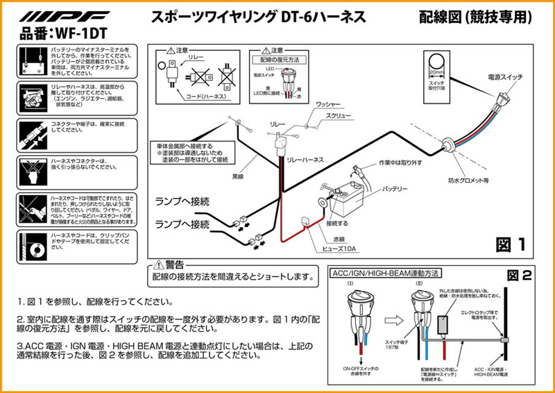 ipf wiring diagram  pre wired driving light loom for use