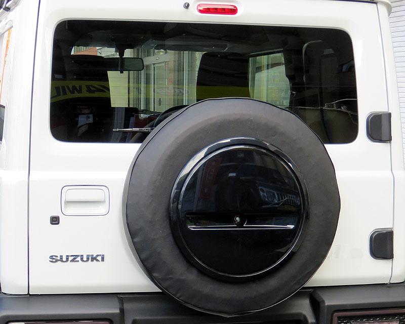 純正センターカバー対応スペアタイヤカバー(スズキ・ジムニー純正タイヤサイズ 175/80R16・195/80R15共用)