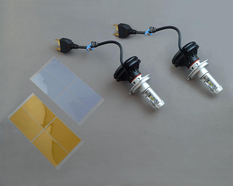 LEDヘッドランプバルブ・アルミヒートシンクタイプH4対応 6500K ハイ/ロー2000lm