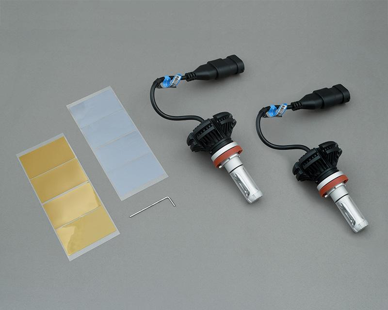 LEDフォグランプバルブ・アルミヒートシンクタイプH8/H11/H16対応 6500K 2000lm(スズキ・ジムニー JB23-5型以降/JB43-4型以降 JB64/JB74)