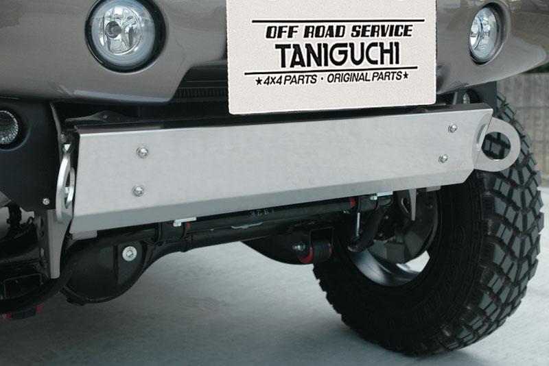 タニグチ製 FRPフロントバンパー用ステンレス製スキッドプレート(けん引フックなし) (スズキ・ジムニー JB23)