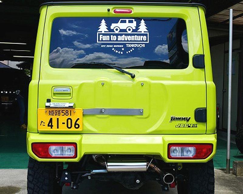 タニグチ製 調整式ナンバー移動キット・旧ナンバー灯セット(スズキ・ジムニー JB64/JB74)