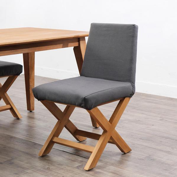 ダイニングチェア ダイニングチェアー 食卓椅子 イス 木製 チーク材 クッション 北欧 ナチュラル デザイン テイスト おしゃれ かわいい カフェ レストラン 創業100年籐家具専門メーカー BREEZE C380XPM
