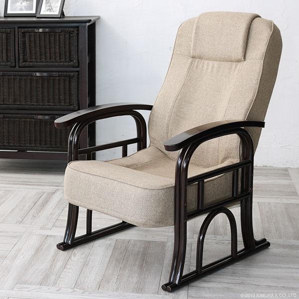 パーソナルチェア リビングチェア リラックスチェア ラウンジソファ 1人掛け リクライニング チェア 椅子 籐家具 ラタン 木製 肘付き ヘッドレスト 和風 アジアン ナチュラル モダン おしゃれ ブラウン サンフラワーラタン C130CBZ
