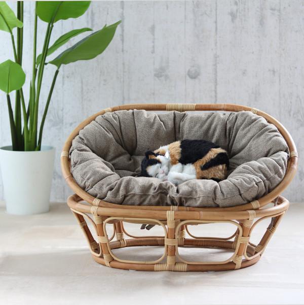ペット ベッド カドラー ソファ クッション ラタン 籐 アジアン ナチュラル 北欧 犬 猫 GK138MEZ