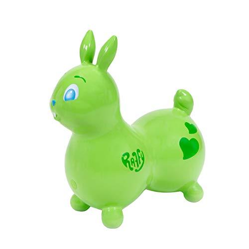 ラッフィ ラフィ ☆新作入荷☆新品 Raffy ウサギ 日本限定 乗用玩具 ロディのお友達 バランスボール ライムグリーン Ride On ノンフタル酸 Hop Green