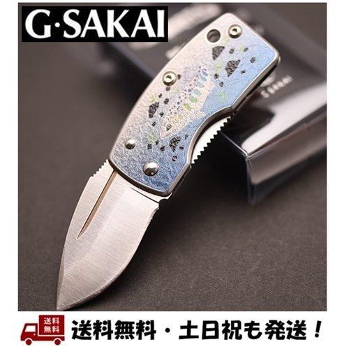 ジーサカイ 買い物 スカル マネークリップ あまご 奉呈 G Sakai Gサカイ 11168 ナイフ アート -正規品- フォルダーナイフ 折りたたみ 小さい