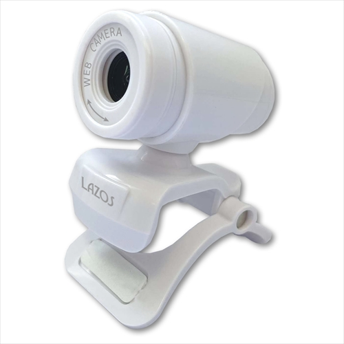 高感度マイク内蔵!ドライバーのインストール不要でかんたん接続。 10個セット Lazos Webカメラ HD ホワイト ASNL-WCHD-WX10|カメラ カメラ本体 WEBカメラ【代引き決済不可】【日時指定不可】