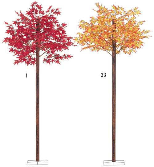 210cm紅葉の木(スタンド付き) 造花 観葉植物 秋装飾デコレーション [DEDE5968]