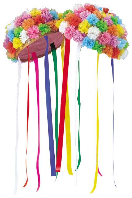 90cm径和紙久寿玉(リボン、花吹雪付き) イベント パーティ用品 [SPMI7040]