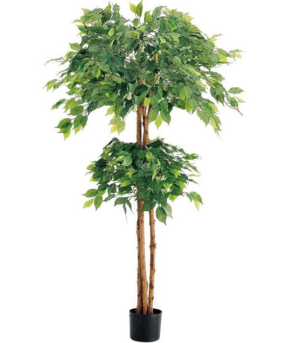 人口観葉植物 大型 150cm ダブルフィカスツリー(ナチュラルトランク) 造花 観葉植物 [LETR7637] フェイク グリーン インテリア おしゃれ 代引決済不可